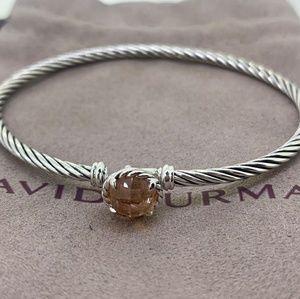 David Yurman Chatelaine Cable Bracelet Morganite